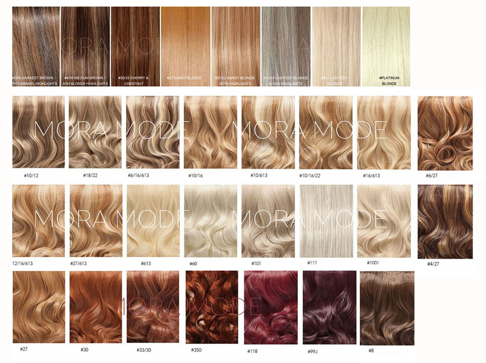 Deluxe Wig Colour Options